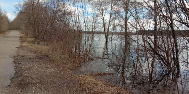 Фото За сутки уровень воды в Вятке вырос на 10 сантиметров